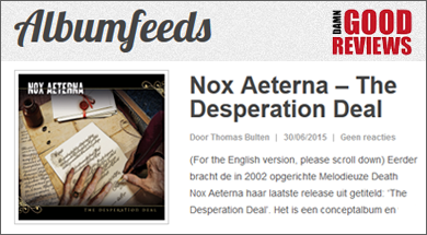 Review: Nox Aeterna - The Desperation Deal